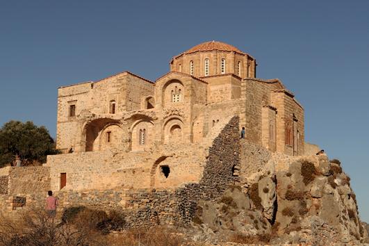 The Byzantine Church of Agia Sofia at Monemvasia. Just so gorgeous.