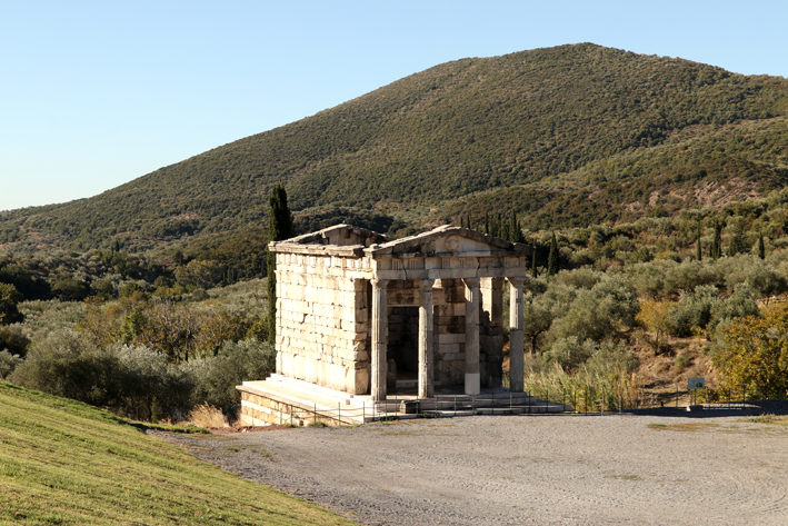 A Classical mausoleum for a rich family at Ancient Messene.    (The photos in this blog are a mix of mine and Geoff's. His are the best ones.)