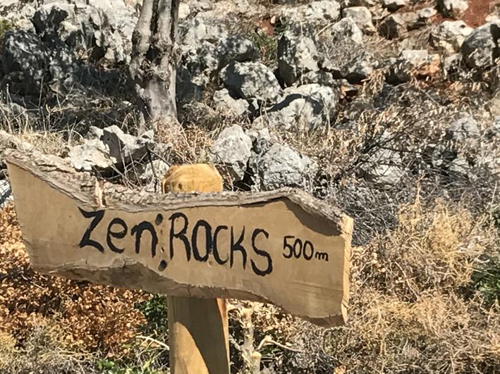 (Couldn't resist the Zen rocks!)
