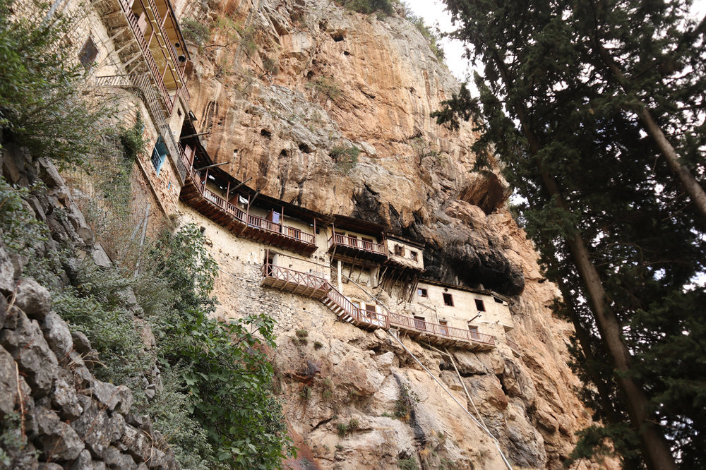 Prodromou Monastery, seemingly impenetrable in the Lousios gorge. Still, the Turks managed to reach it.