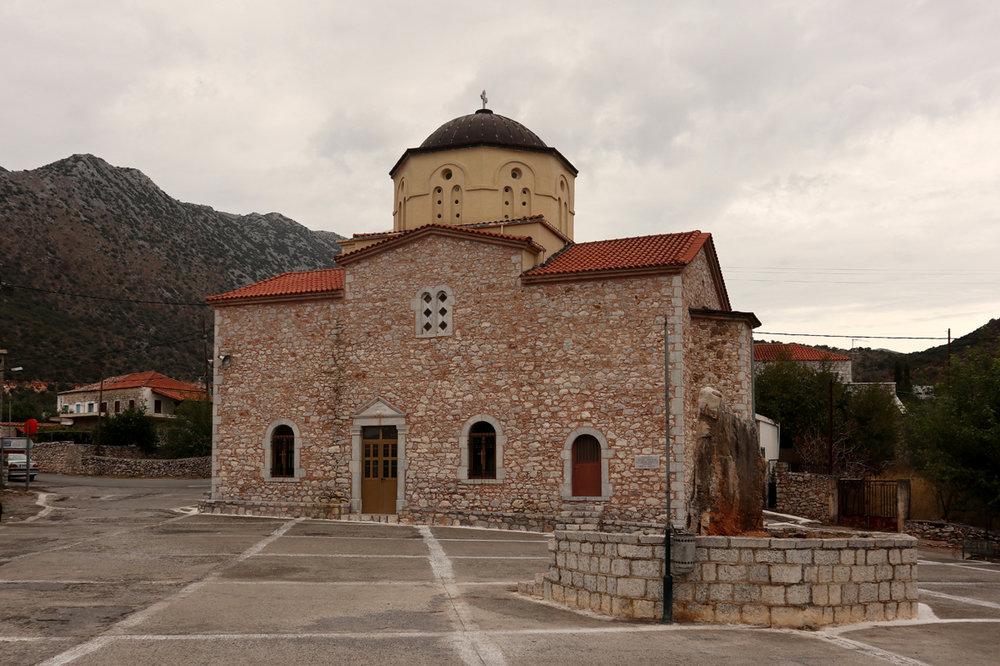 Flomochori church, in the Mani