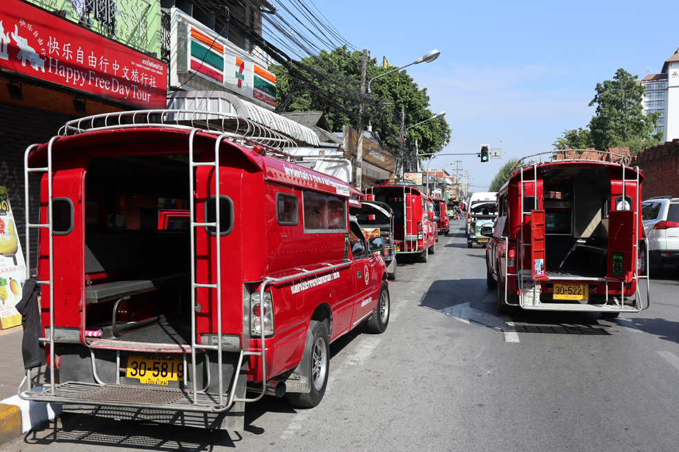 Communal taxis or old-fashioned fire trucks?