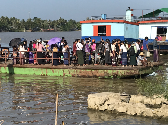 The daily commute at Pathein