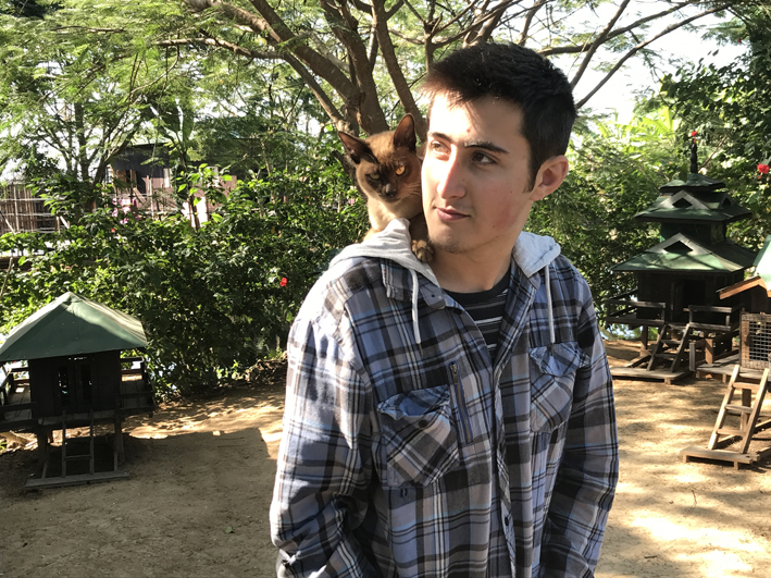 A relatively guilt-free attraction: The Inle Heritage at In Phaw Khone, where a local business woman is attempting to reintroduce full-bred Burmese cats into their native land. I mention this also as an excuse to put pictures of cats and my older children into this blog.
