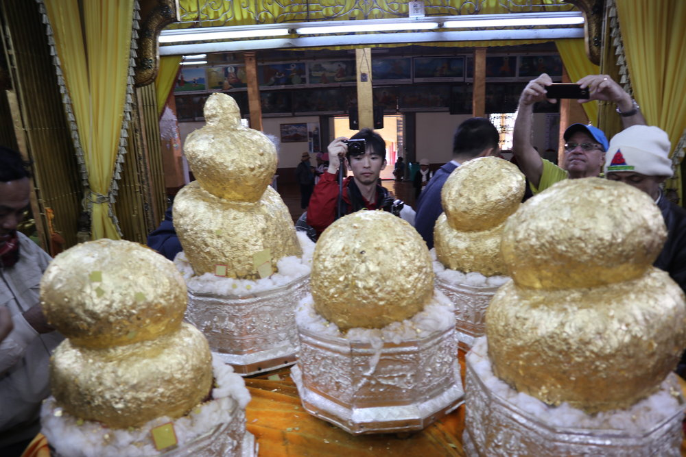 Buddhas turned into amorphous blobs by an excess of gold