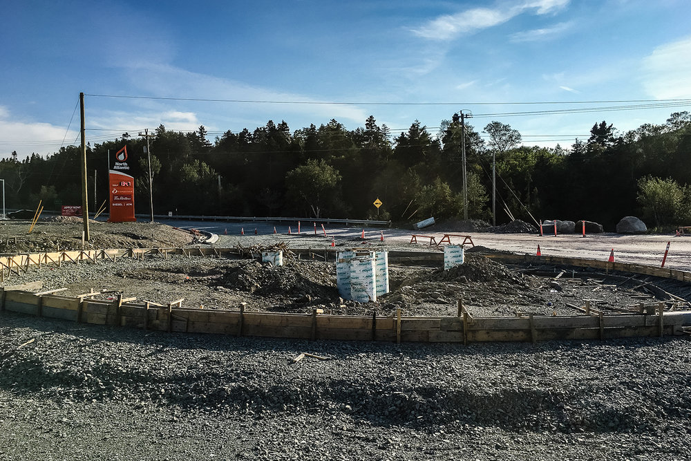 09-28-18 /  Footings are in place for our  roundabout gateway feature  in Holyrood!