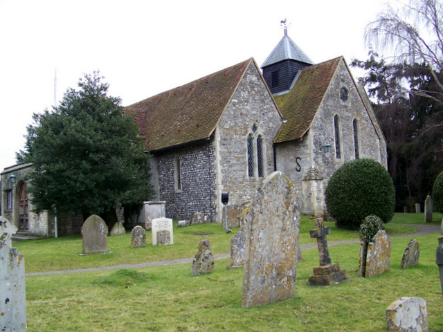 The church of St Peter and St Mary, Fishbourne, Sussex, where opening of The Taxidermist's Daughter is set. (Photo by