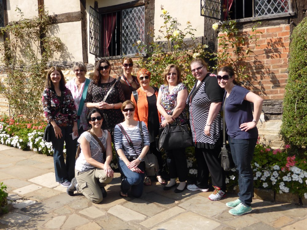 I visited Stratford as part of a writing retreat with author Kate Forsyth. Here we all are : )!