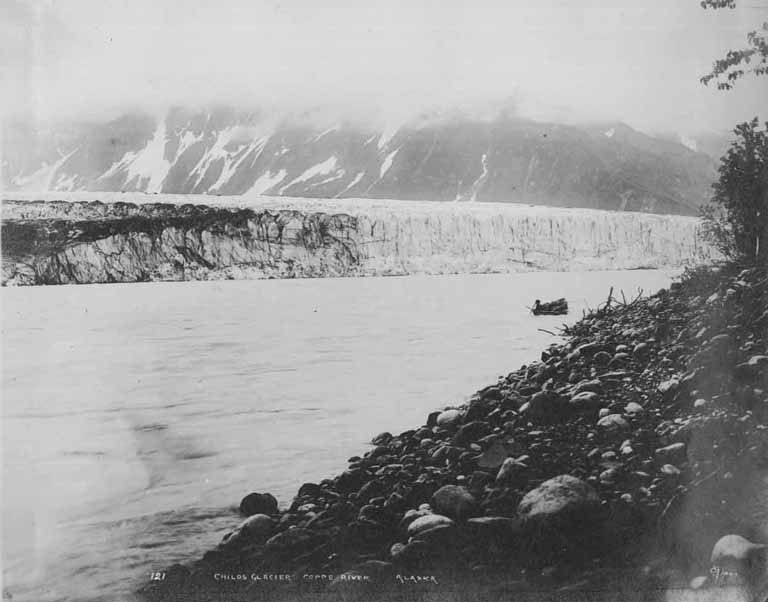 Child's Glacier on the Copper River, Alaska, ca 1908.
