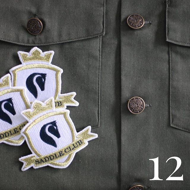 12 DAYS OF CHRISTMAS ⭐️ Saddle Club Members Patch ⭐️ (Xmas tip: makes the perfect stocking stuffer)