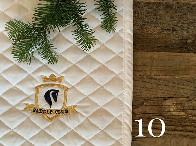 10th DAY OF CHRISTMAS ⭐️ Saddle Club Saddle Pad. Quilted, elegant, minimalist perfection ⭐️ (Xmas tip: can be used in or out of the ring)