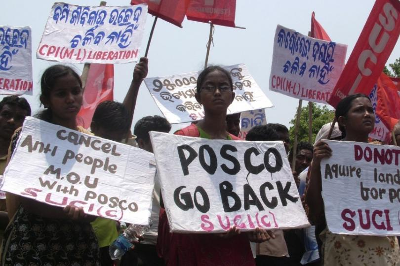 Protests against POSCO in Odisha province, India, where entire communities are threatened with destruction in the name of development said to serve the greater good.