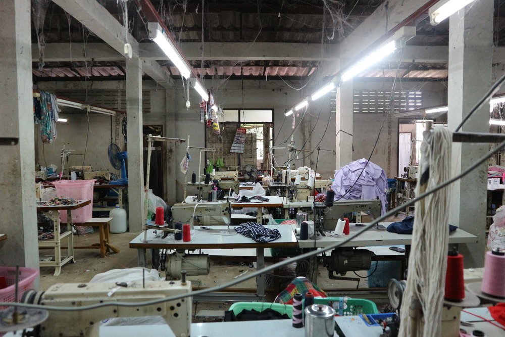 Garment workshop in Mae Sod, Thailand, on the border with Myanmar.  The factory is staffed by Burmese ethnic minorities. Source: Shelley Marshall Photography.