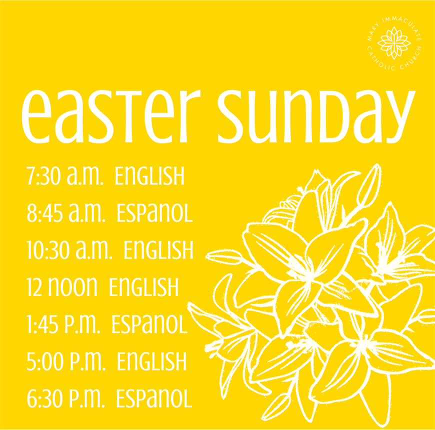 59f0a4eb9 Easter Sunday — Mary Immaculate Catholic Church