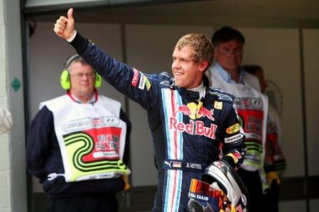 Sebastian Vettel in parc ferme