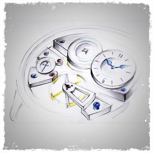Le garde temps naissance d'une montre