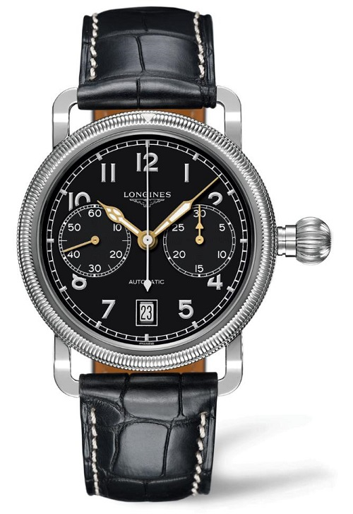 Longines Avigation Oversize Crown Monopusher Chronograph