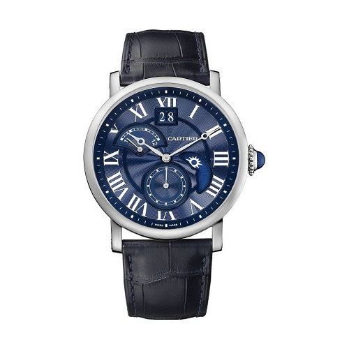 Cartier Rotonde-de-cartier-second-time-zone-day-night-blue