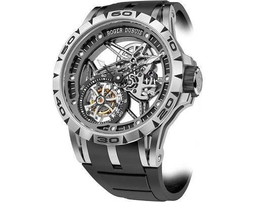 The Roger Dubuis Excalibur Spider Skeleton Flying Tourbillon watch