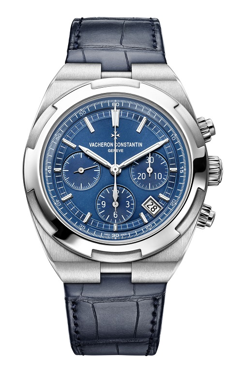 Overseas chrono blue 5500V/110A-B148 bracelet cuir leather