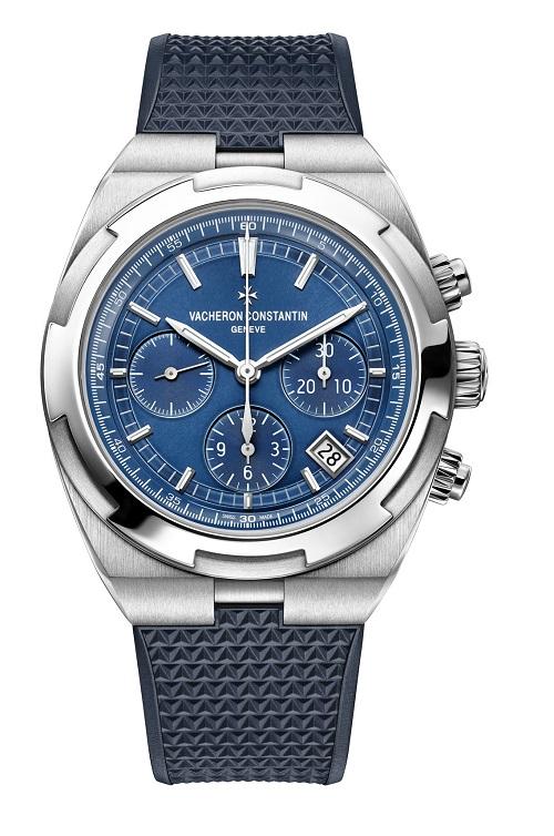 Overseas chrono blue 5500V/110A-B148 bracelet caoutchouc rubber