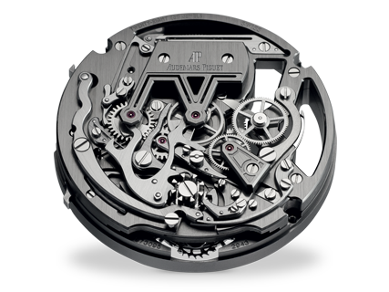 Back view with chronograph mechanism