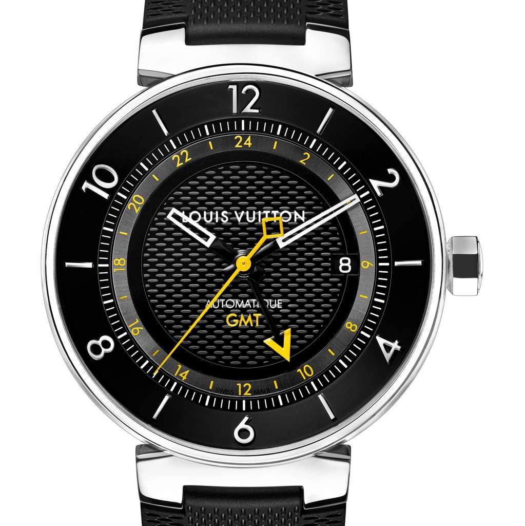 baebe745ec Louis Vuitton Tambour Moon GMT Black — The Watch Press - Luxury ...