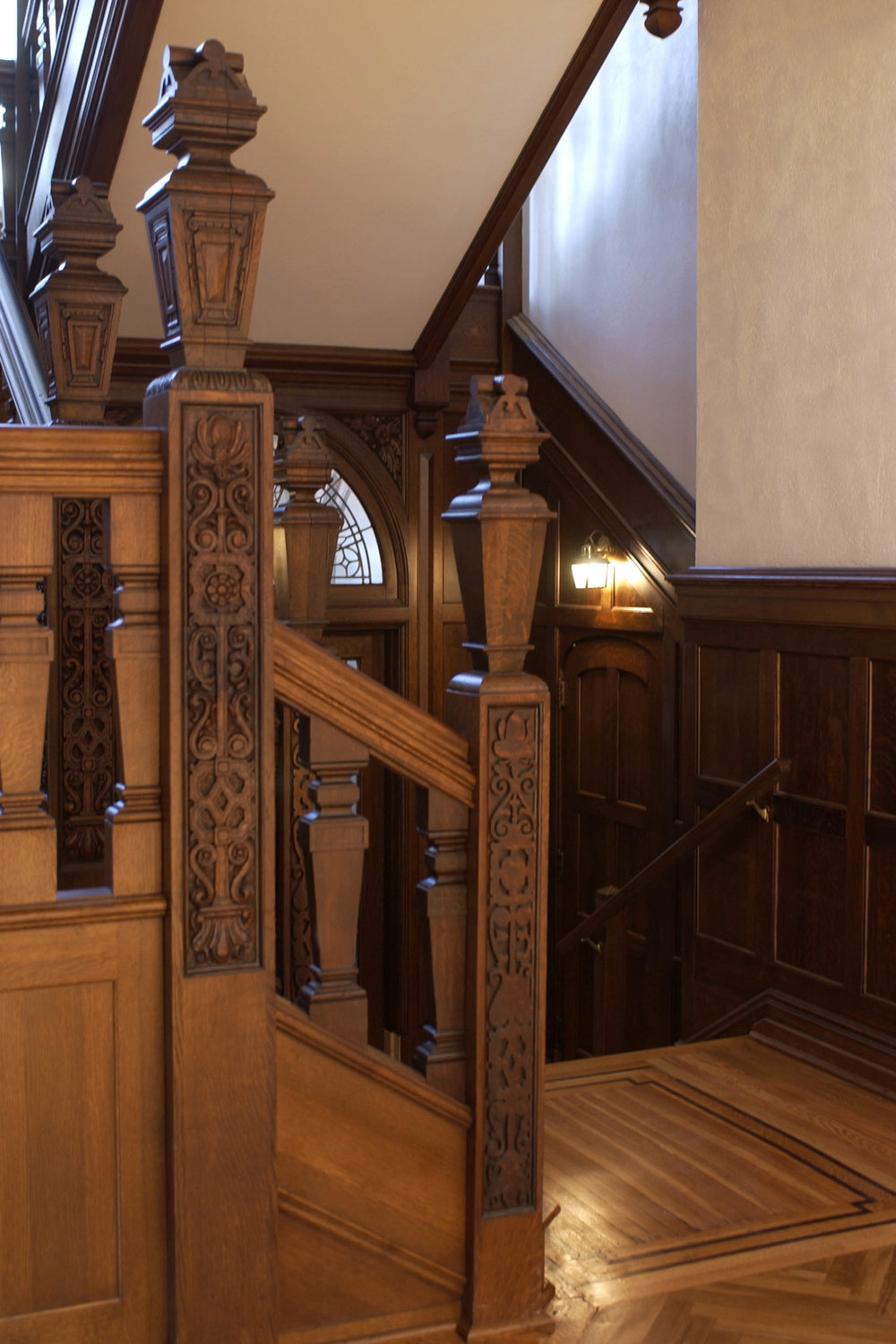 Restored Staircase Bannister