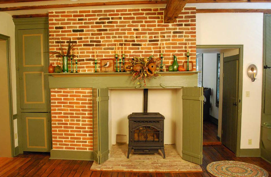 Restored Kitchen Fireplace