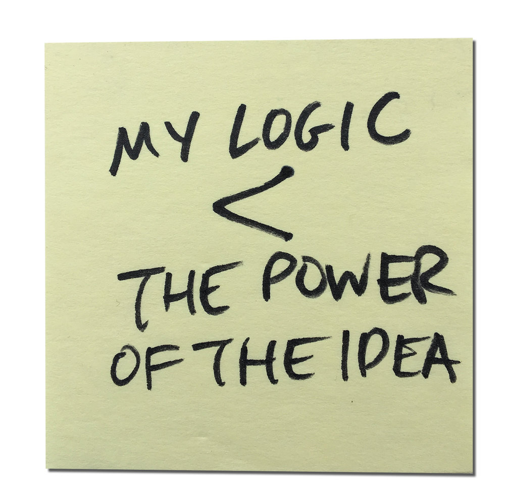 Jeremy Mende, my boss at the time, gave me this important tip when I was struggling with my prototype. He told me the power of the idea was more important than my logic, which may seem offensive at first, but was incredibly helpful to clarify that the message and the power of how it was being conveyed was more important than the form I thought it should exist in.