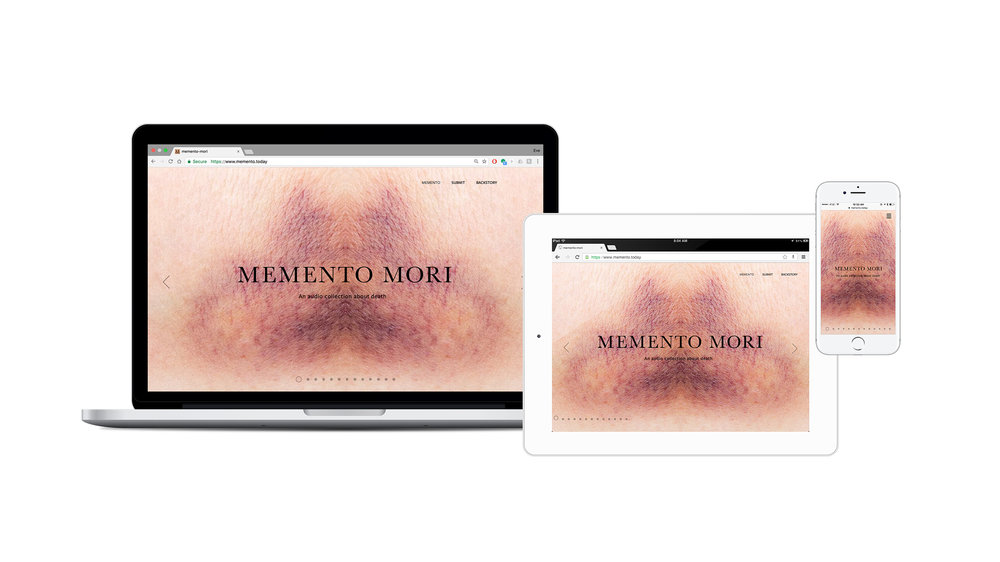 Because Memento Mori lives beyond its installation,it is formatted for every device.