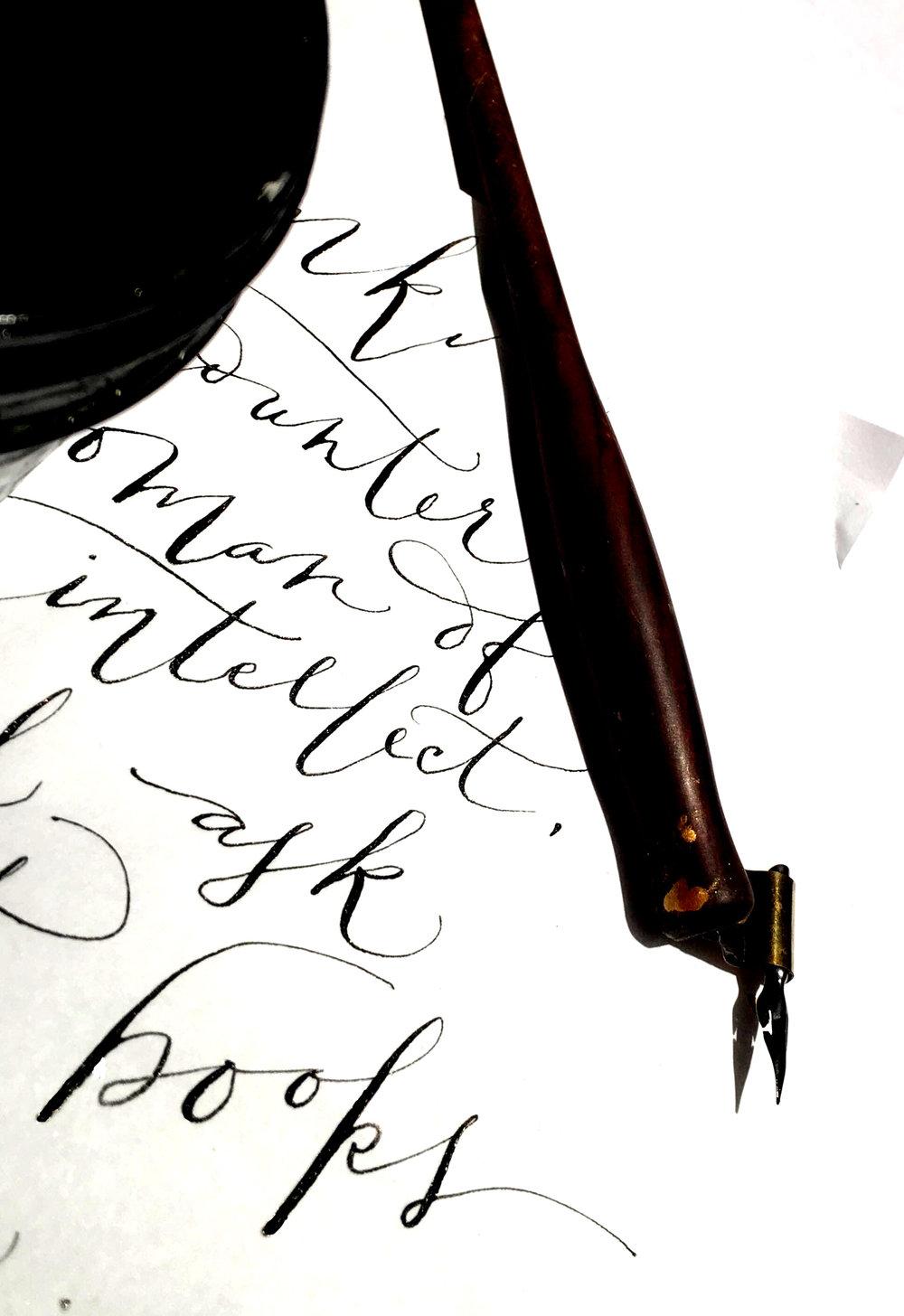 Custom calligraphy in mid-Missouri | Inkling Calligraphy & Illustration