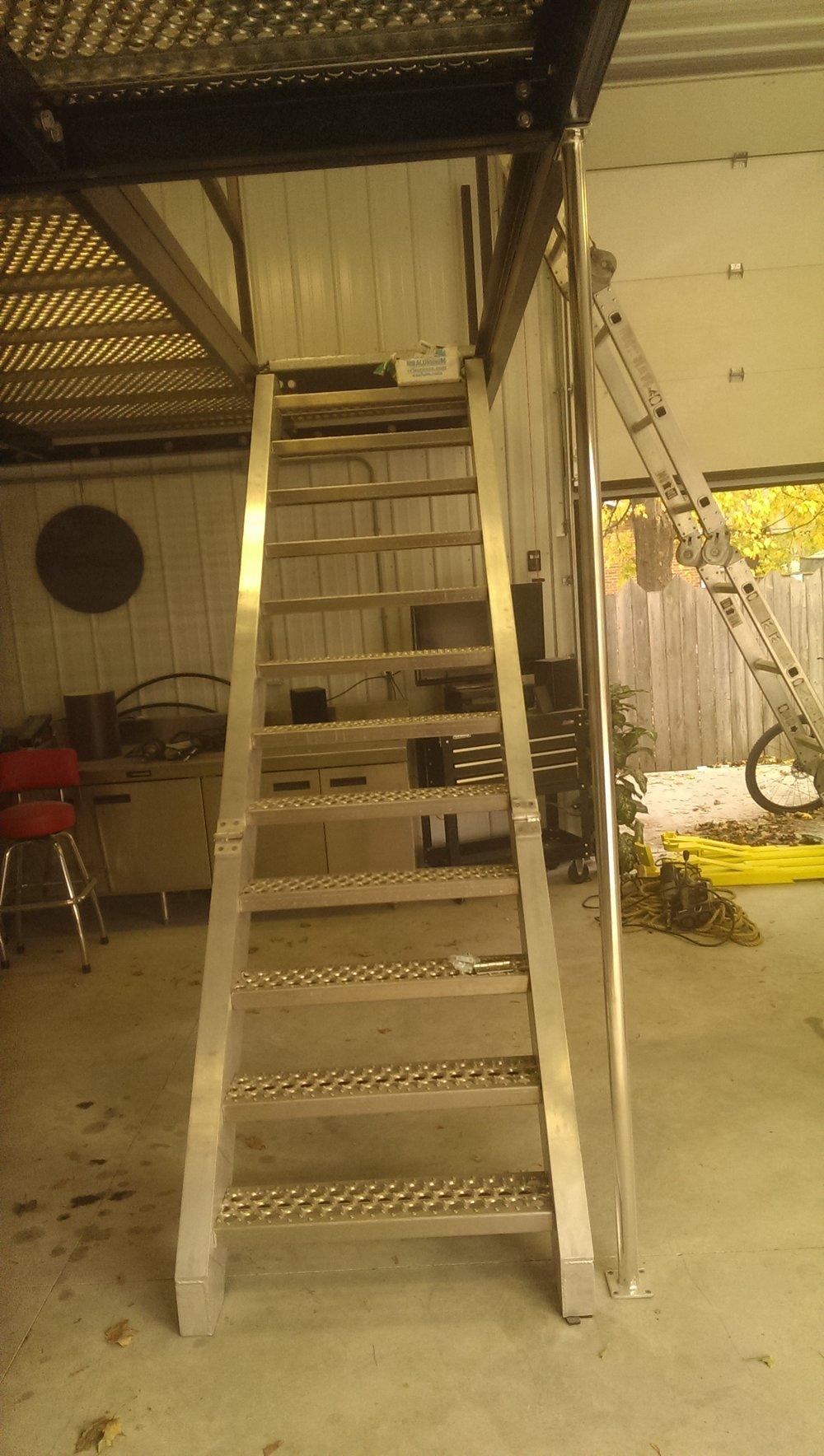 Stairs + Mezzanine