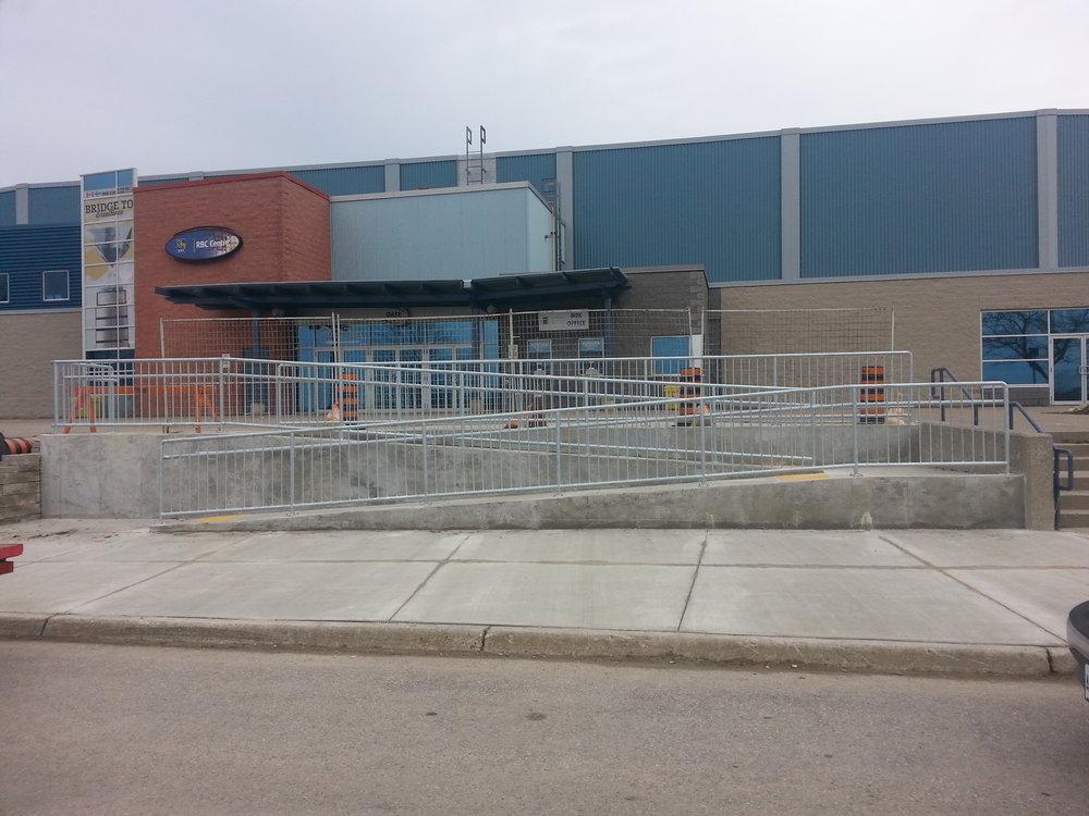 Progressive Auto Sales Arena Railing