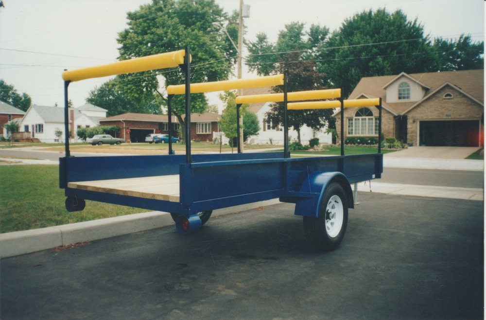 Custom Blue Trailer