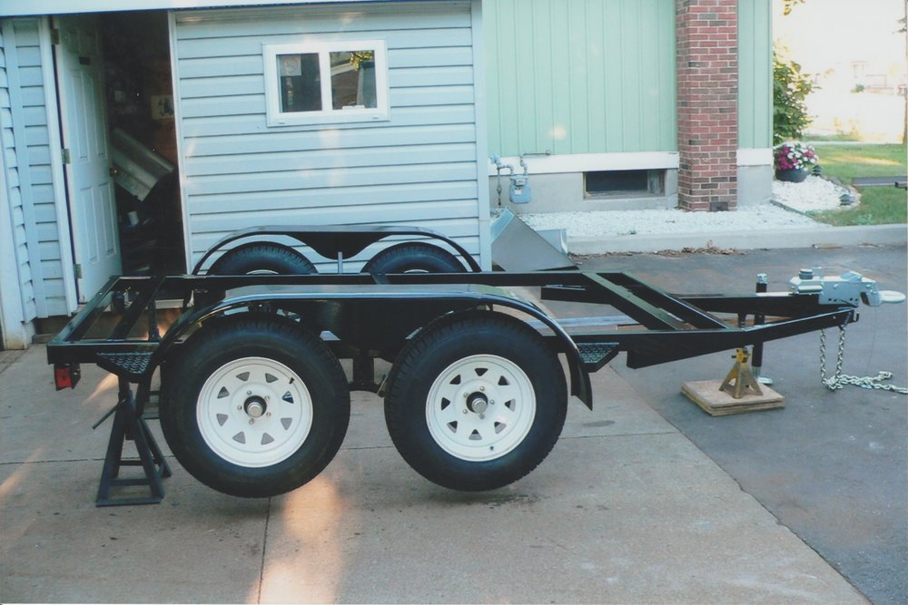 Custom Black Trailer