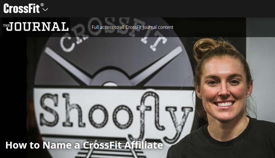 CrossFit Shoofly Featured in the CrossFit Journal - Learn more about the history of Shoofly and come see what it is like to train with us.  Read the article.