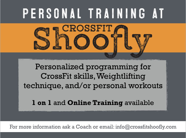 1-on-1 Personal Training - Single Sessions:30 Minutes: $45       60 Minutes: $75Packages30 Minutes:4 Sessions: $170     6 Sessions: $2508 Sessions: $3308+ Sessions: $330 + $35 per additional session60 Minutes:4 Sessions: $270     6 Sessions: $4008 Sessions: $5308+ Sessions: $530 + $65 per additional sessionOnline Training:Single Week Programming:2-3 Days: $65          4-6 Days: $75Multi-Week Programming:2-3 Days per Week: $  95 per 2 Weeks4-6 Days per Week: $105 per 2 Weeks