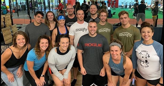 Shoofly Barbell Club rolling deep with 8 athletes competing this morning. #liftheavy #shooflybarbell #olympicweightlifting #fuquayvarina #fvdowntown #wearefv