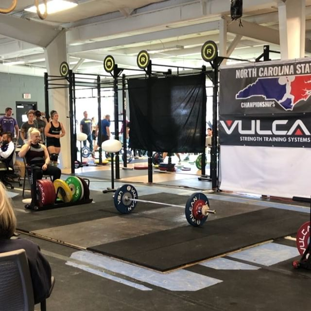 Closing out the day with @mcluva2047 going 5/6 and posting a 156kg total (meet pr) So proud of both our lifters today and looking forward to the men taking the platform tomorrow! #weightlifting #olympicweightlifting #ncstatechampionships