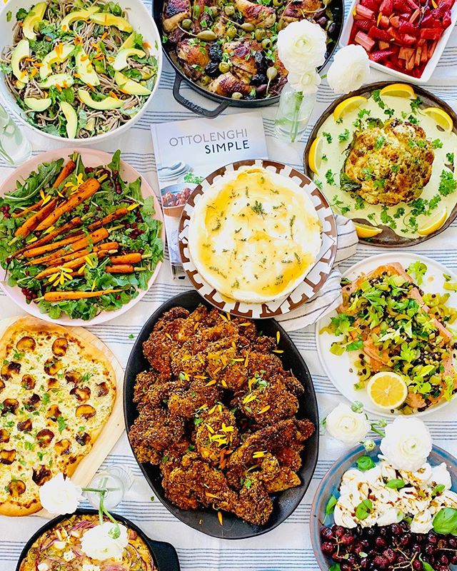 cookbook club vii 🍴 . so perfect, so simple by @ottolenghi . 📸: @hollyliss #cookbookclub