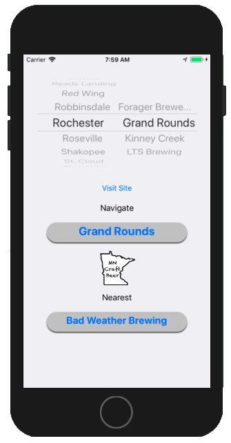 MN Breweries on iPhone..