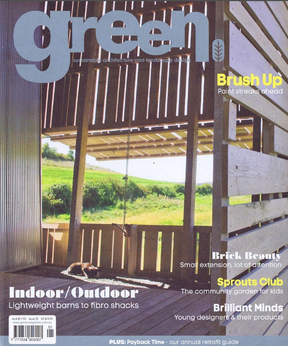 Green Magazine, Issue 23                                      'No Frills' article, Jan/Feb 2012