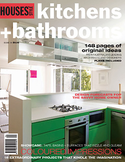 HOUSES Style, Kitchen and Bathrooms         Issue No 04, 'Solitary Refinement' cover a article