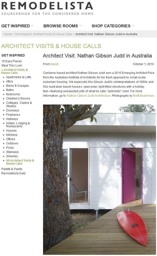 REMODELISTA Architect Visit: Nathan Gibson Judd in Australia