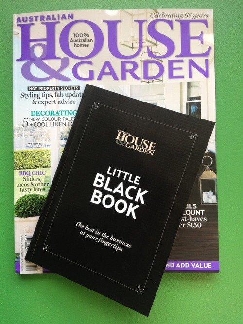 House and Garden                                                      Feature in 'Little Black Book' 2013