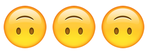What does the upside down smiling emoji mean