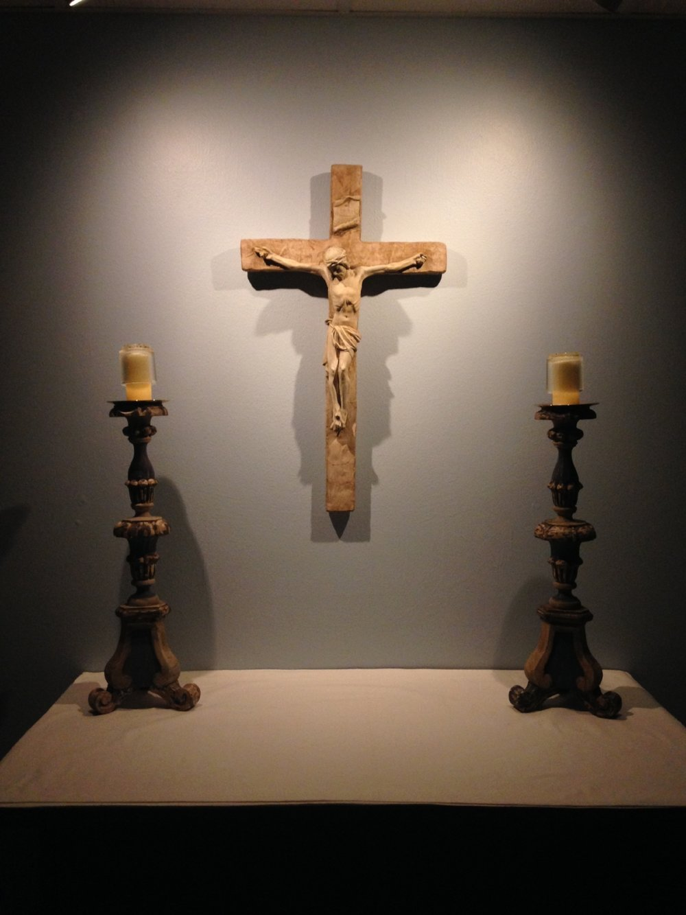 The crucifix in our Oratory.