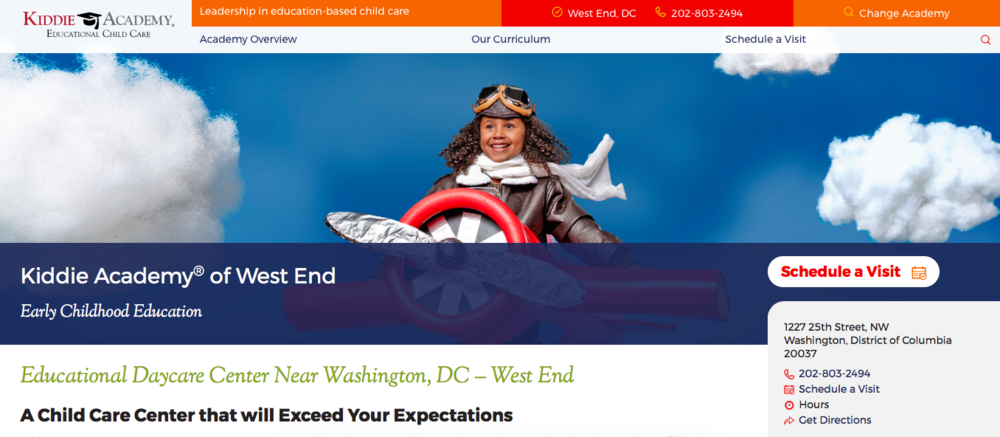 Kiddie Academy DC West End Homepage