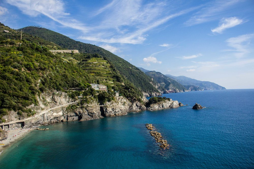 Coastline of Monterosso al Mare